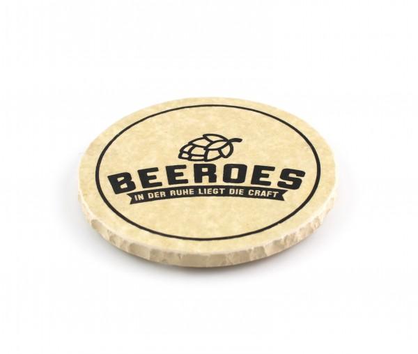 Beeroes - Natursteinuntersetzer