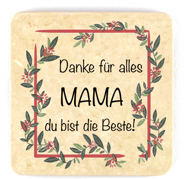 """Muttertagsfützl """"Danke für alles"""" - quadratisch"""