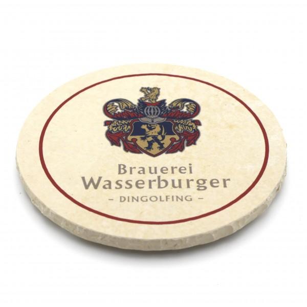 Brauerei Wasserburger Dingolfing Steinuntersetzer rund einzeln