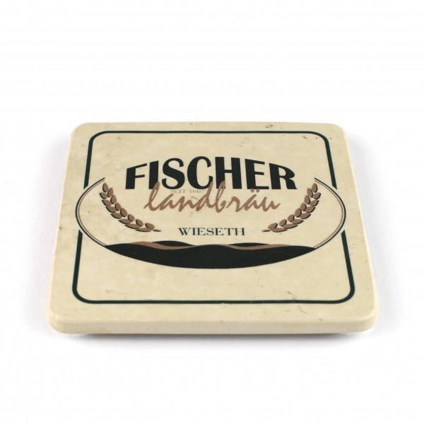Fischer Landbräu - Natursteinuntersetzer