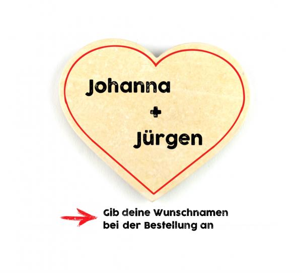Geschenkfützl - Herz mit Text-