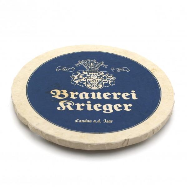 Brauerei Krieger Steinuntersetzer rund einzeln
