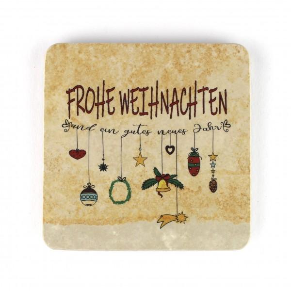 Frohe Weihnachten Kette - Natursteinuntersetzer