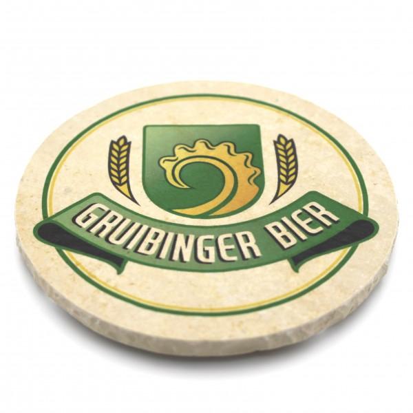 Gruibinger Bier Steinuntersetzer rund einzeln