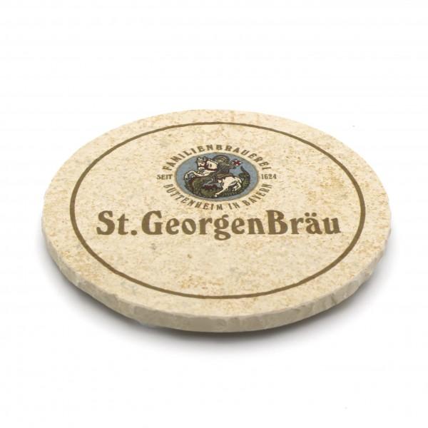 St. Georgenbräu Natursteinuntersetzer rund einzeln