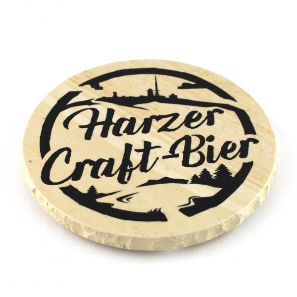 Harzer Craft-Bier - Natursteinuntersetzer