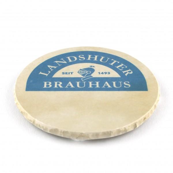 Landshuter Brauhaus Steinuntersetzer rund einzeln