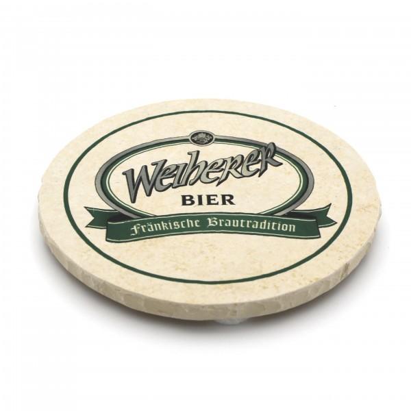 Weiherer Bier Steinuntersetzer rund einzeln
