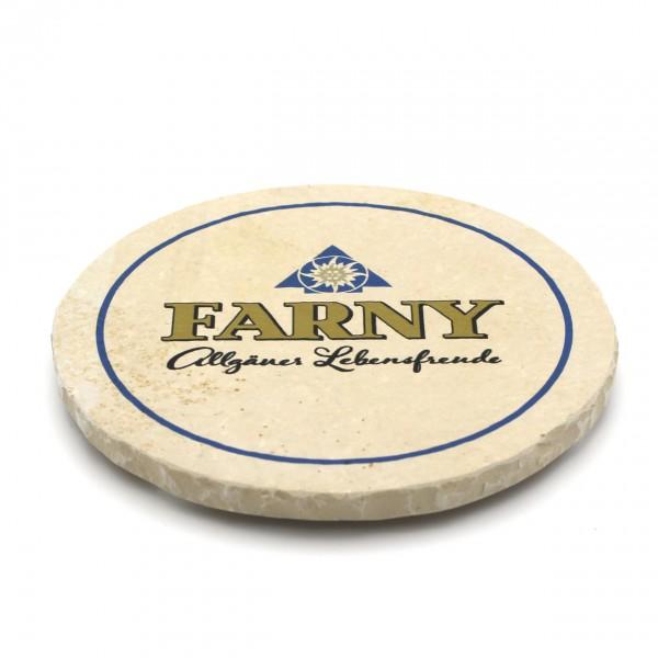 Farny Steinuntersetzer rund einzeln