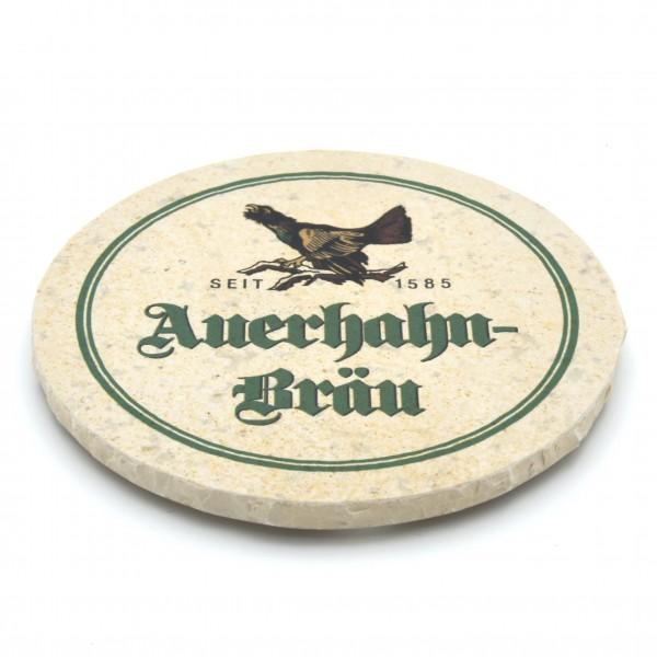 Auerhahn Bräu Lauterbach Steinuntersetzer rund