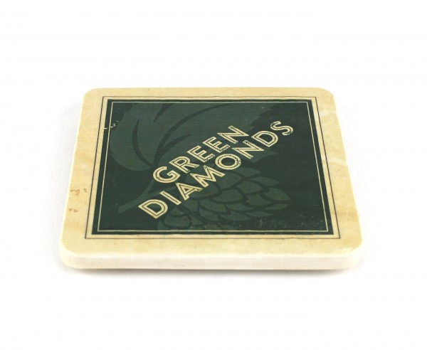 Green Diamonds - Natursteinuntersetzer