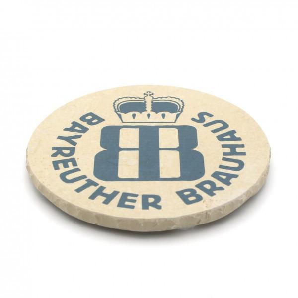 Bayreuther Hell Steinuntersetzer rund einzeln