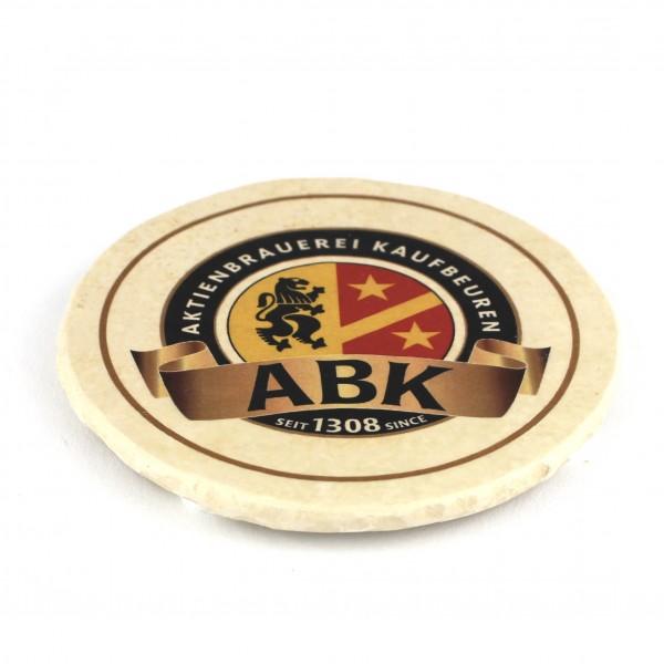 ABK Aktienbrauerei Kaufbeuren Steinuntersetzer rund