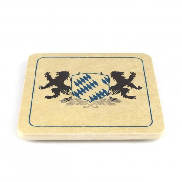 WBY-Bayern Wappen - Natursteinuntersetzer