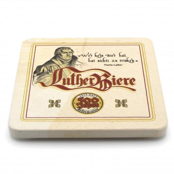 Luther Bier Steinuntersetzer eckig einzeln