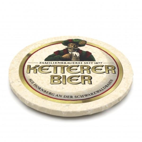 Ketterer Bier Steinuntersetzer rund einzeln