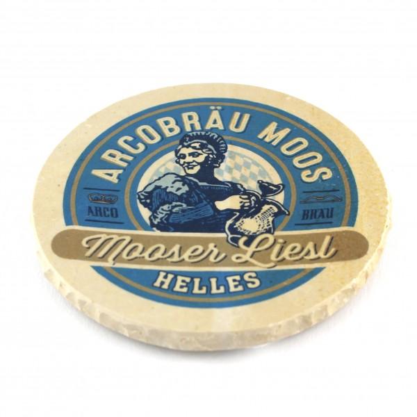 Arcobräu Moos (Mooser Liesl) - Natursteinuntersetzer