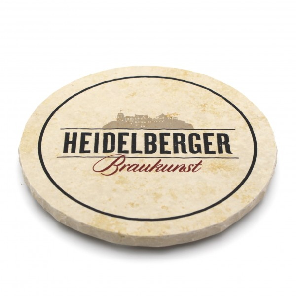 Heidelberger Brauhaus Steinuntersetzer rund einzeln