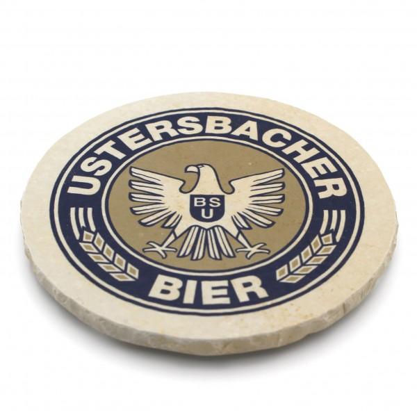Ustersbacher Bier Steinuntersetzer rund einzeln