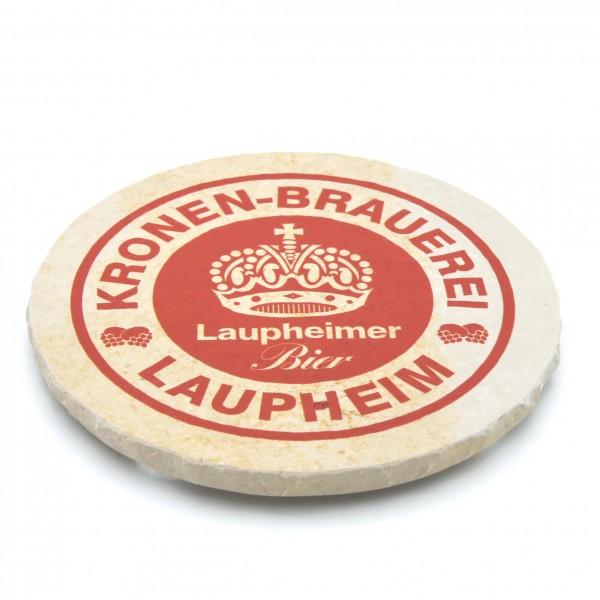 Kronen Brauerei Laupheim Steinuntersetzer rund einzeln