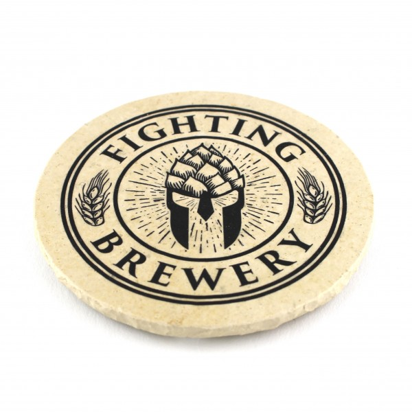 Fighting Brewery - Natursteinuntersetzer