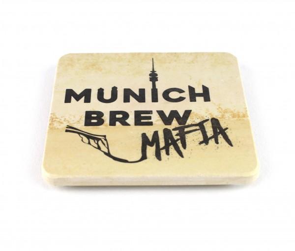 Munich Brew Mafia - Natursteinuntersetzer