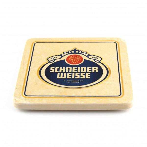 Schneider Weisse Steinuntersetzer quadr