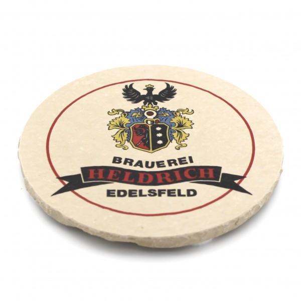 Brauerei Heldrich Edelsfeld Steinuntersetzer rund einzeln