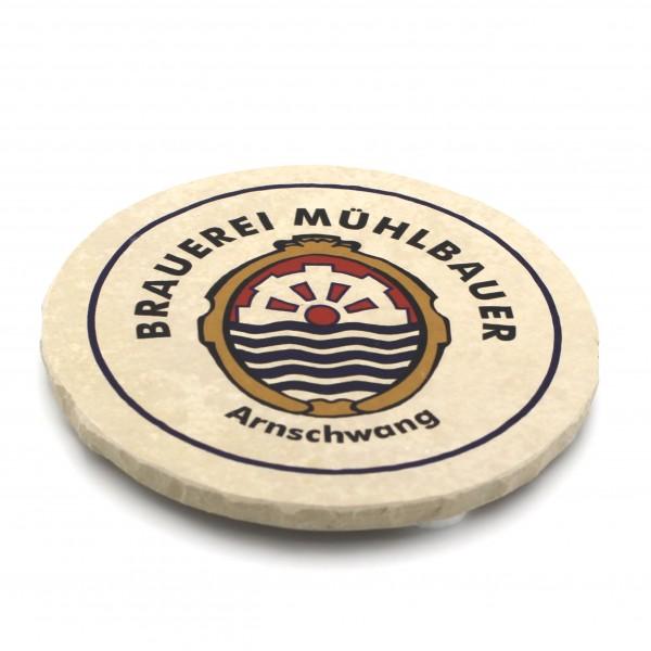 Brauerei Muehlbauer Steinuntersetzer rund einzeln