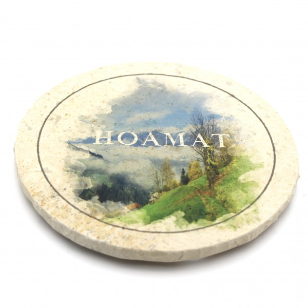 WBY Hoamat Steinuntersetzer rund einzeln
