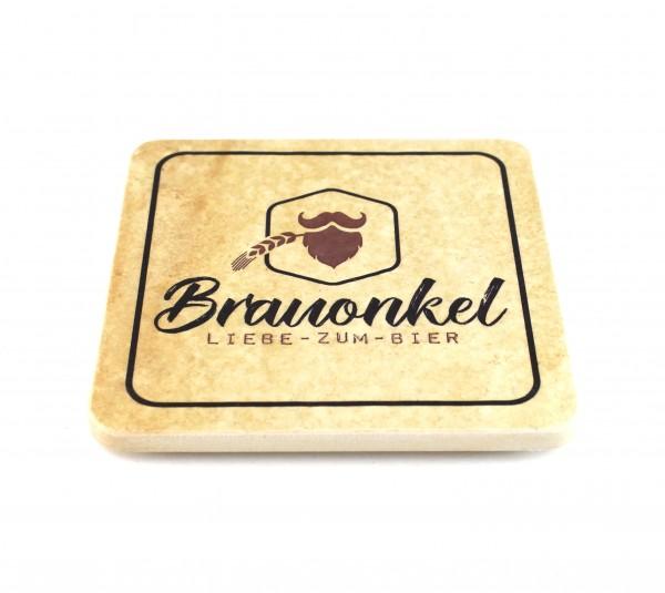 Brauonkel - Natursteinuntersetzer