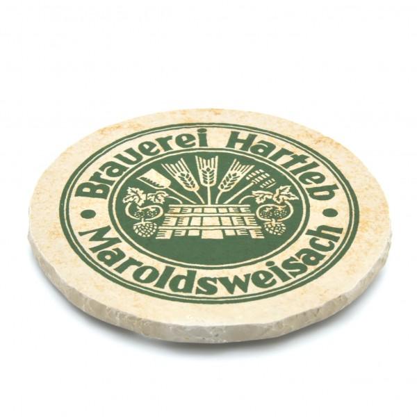 Brauerei Hartleb Maroldsweisach Steinuntersetzer rund einzeln