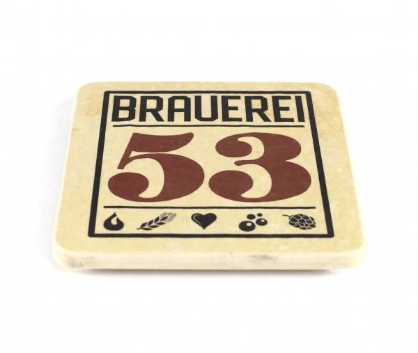 Brauerei 53 - Natursteinuntersetzer