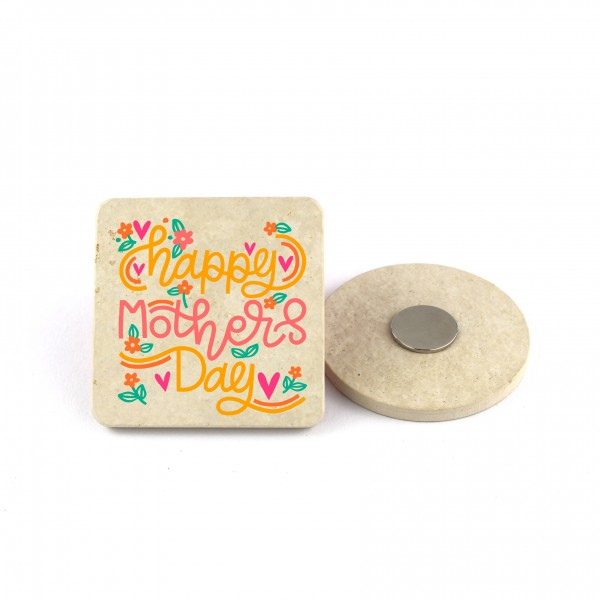 """Muttertagsmagnet """"Happy Mothers Day"""" - 6,5cm-"""