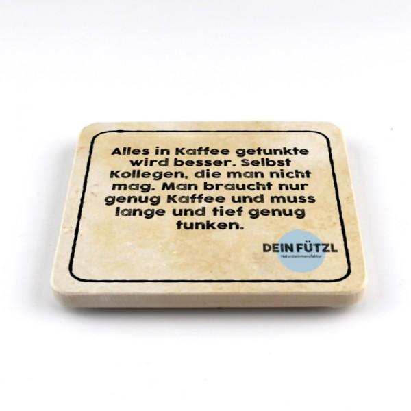 Kollegen und Kaffee - Natursteinuntersetzer