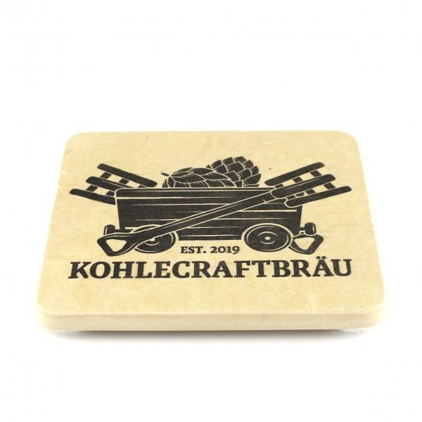 Kohlecraftbräu - Natursteinuntersetzer