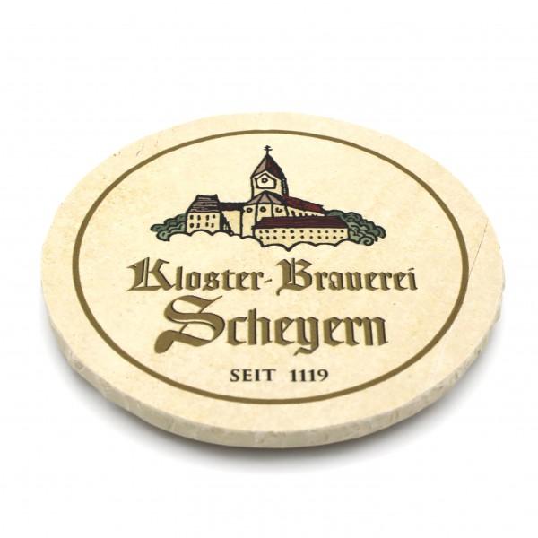Kloster Brauerei Scheyern Steinuntersetzer rund einzeln