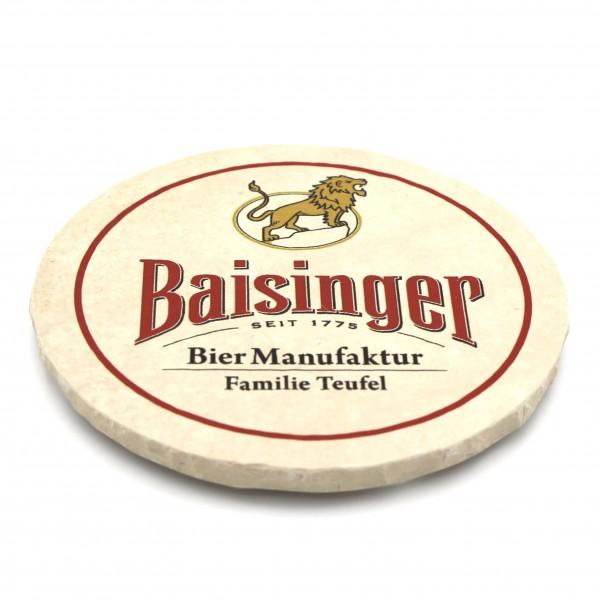 Baisinger Biermanufaktur Steinuntersetzer rund einzeln