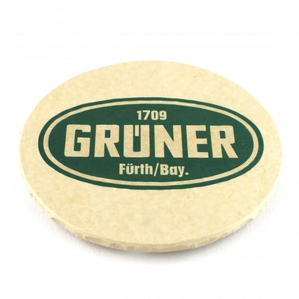 Grüner Steinuntersetzer rund