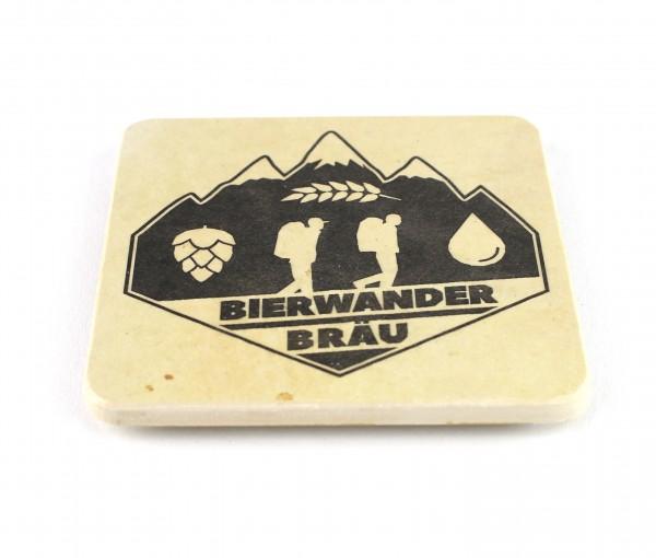 Bierwander Bräu - Natursteinuntersetzer