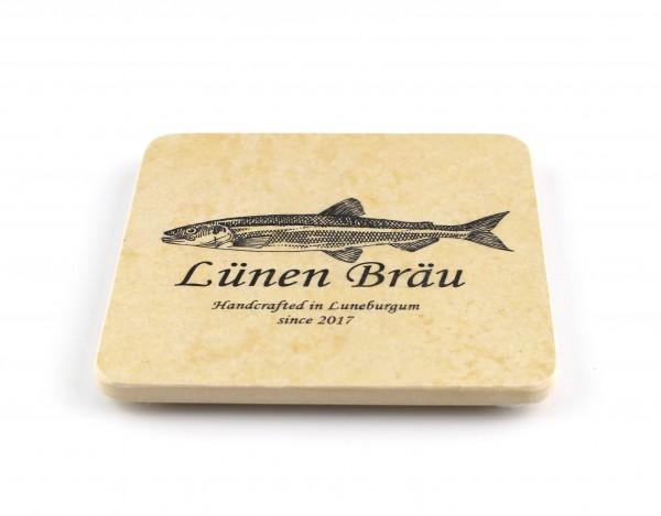 Lünen Bräu - Natursteinuntersetzer