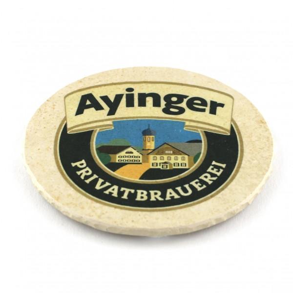 Ayinger Steinuntersetzer rund