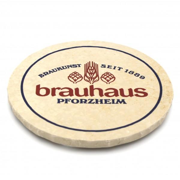 Brauhaus Pforzheim Steinuntersetzer rund einzeln