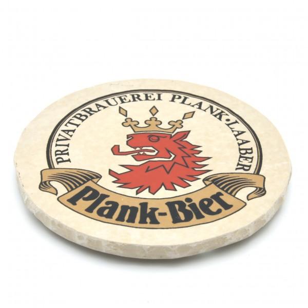 Brauerei Plank Steinuntersetzer rund einzeln