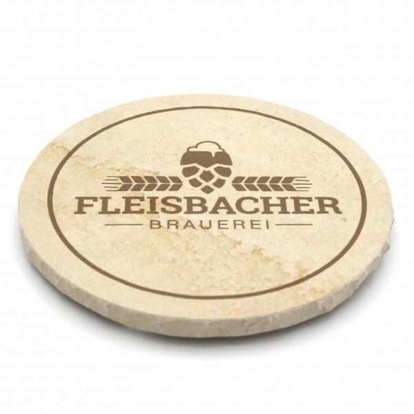 Fleisbacher Brauerei Steinuntersetzer rund einzeln