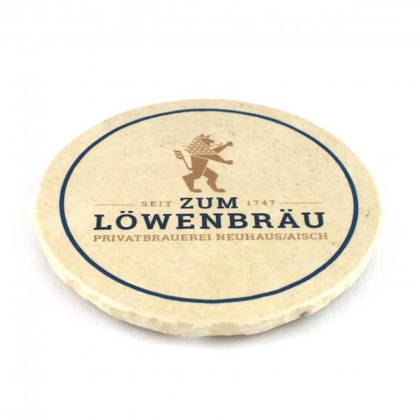 Zum Löwenbräu Neuhaus Steinuntersetzer rund