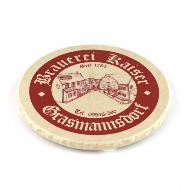Brauerei Kaiser Grasmannsdorf Steinuntersetzer einzeln